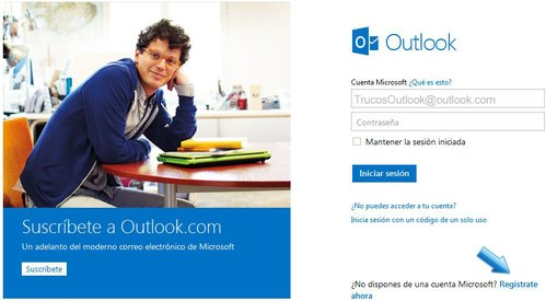 hotmail-registrarse
