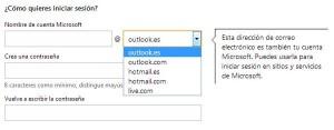 hotmail correo - nombre de usuario